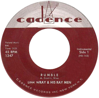 Link Wray – Rumble (1958) – New Music United