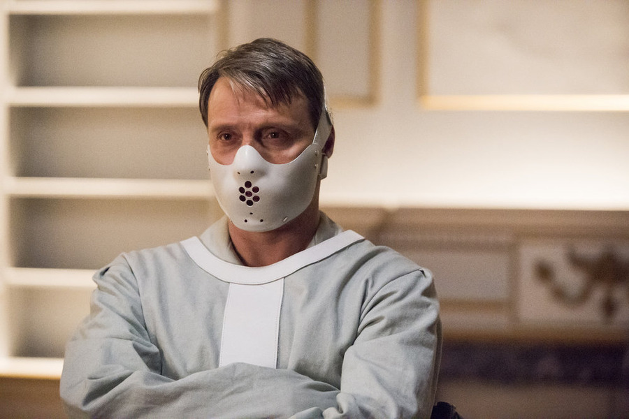 "HANNIBAL -- ""The Wrath of the Lamb"" Episode 313 -- Pictured: Mads Mikkelsen as Hannibal Lecter -- (Photo by: Brooke Palmer/NBC)"