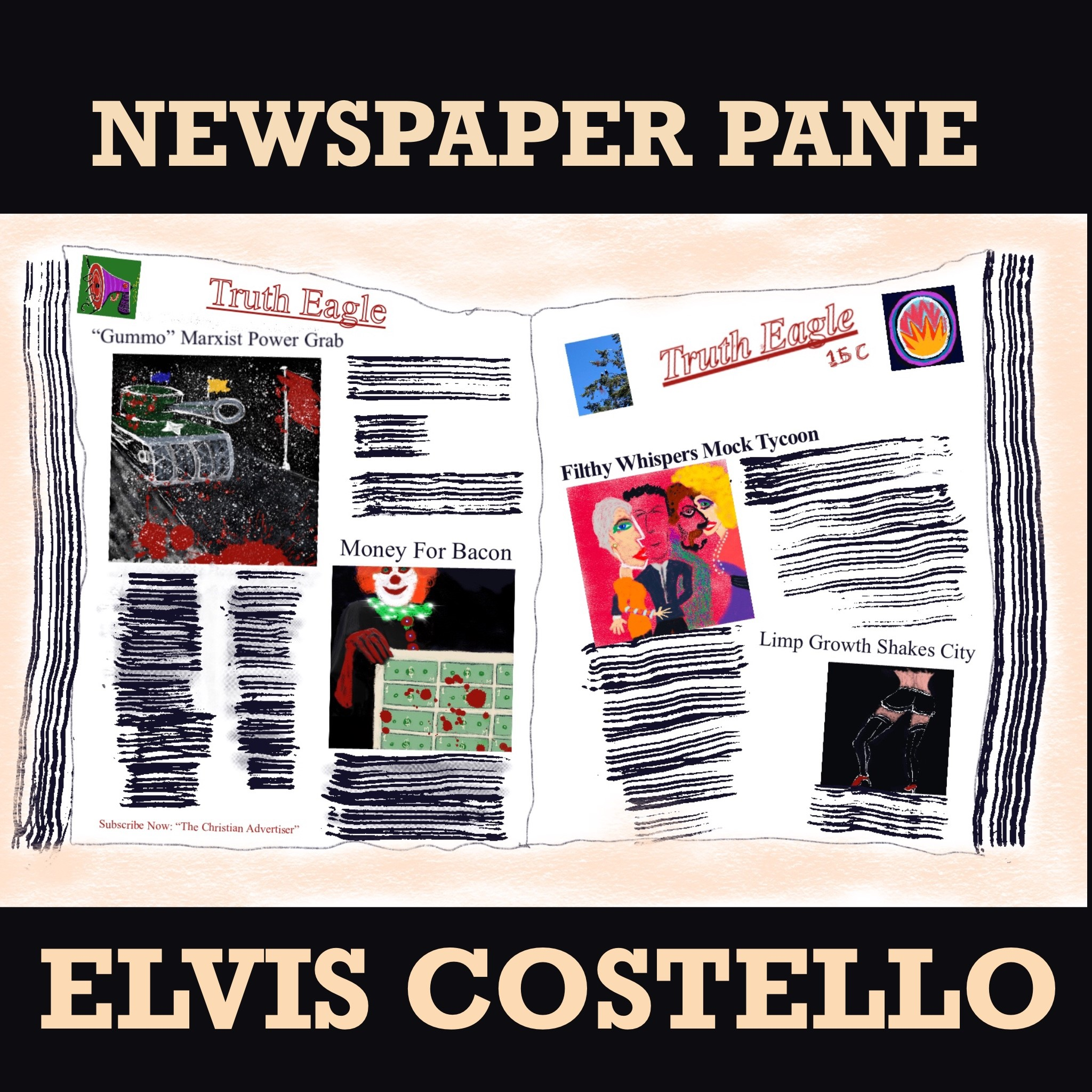 Elvis Costello – Newspaper Pane